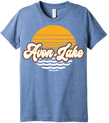 Sun & Waves~ Youth Unisex Tee {full front logo/blank back}