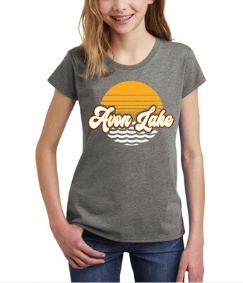Sun & Waves~ Youth Girls Tee {full front logo/blank back}