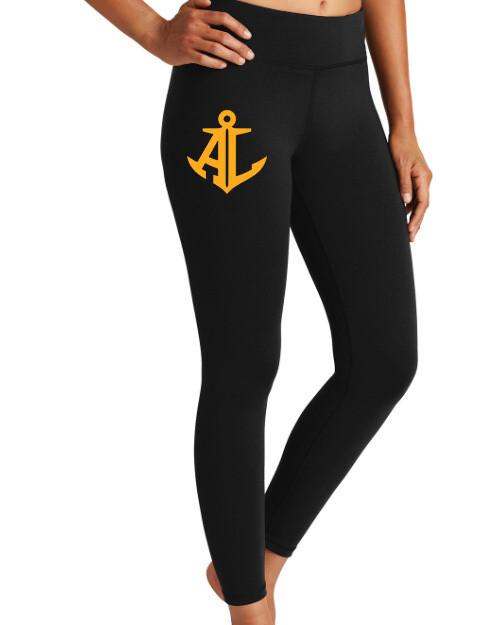 Gold Anchor Logo~Women's Sport-Tek 7/8 Legging