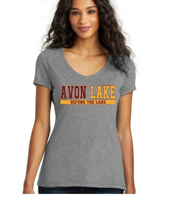 Defend The Lake~Women's Perfect Fit V-Neck Tee