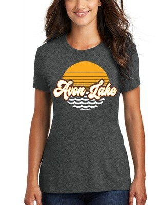 Sun & Waves~ Women's Perfect Fit Tee {full front logo/blank back}