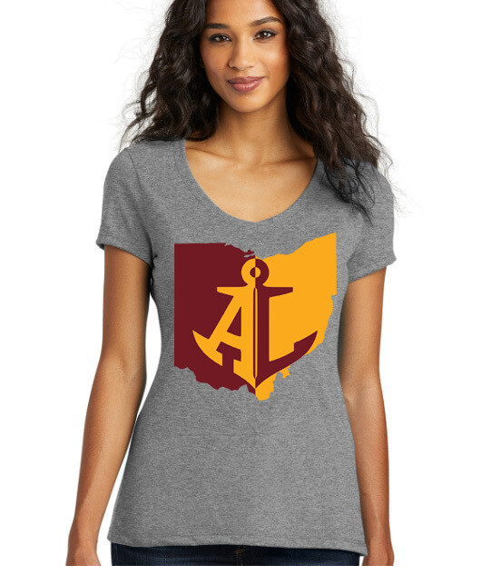 Maroon & Gold~Women's Perfect V-Neck Tee