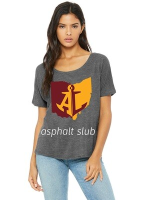 Maroon & Gold State~Women's Slouchy Tee