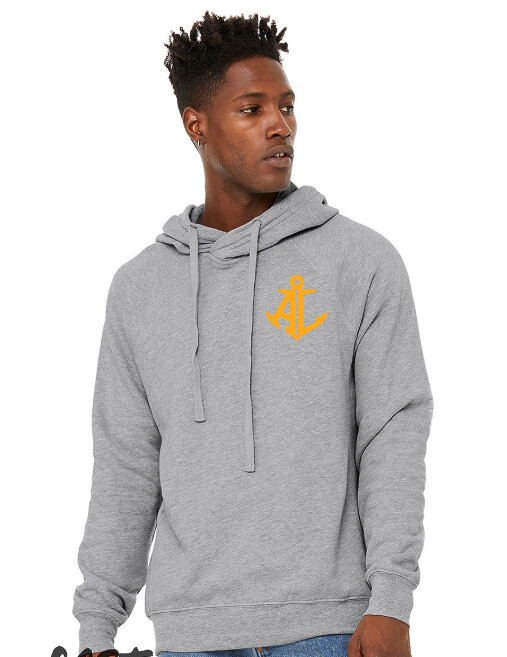 Maroon & Gold State~Unisex Crossover Hoodie