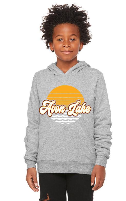 Sun & Waves~Youth Unisex Fleece Pullover Hoodie {full front logo/blank back}