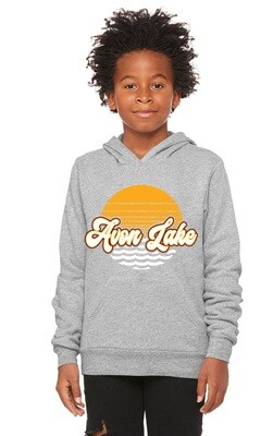 Sun & Waves~Youth Unisex Fleece Pullover Hoodie {full front logo/blank back}