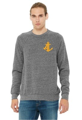 Sun & Waves~Unisex Fleece Raglan Sweatshirt