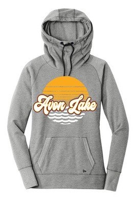 Sun & Waves~Women's Triblend Fleece Hoodie {full front logo/blank back}
