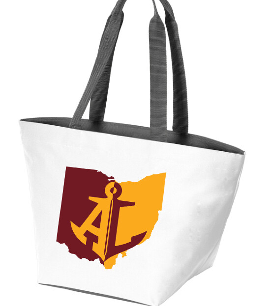 Maroon & Gold State~Carry All Zip Tote {White/Magnet}