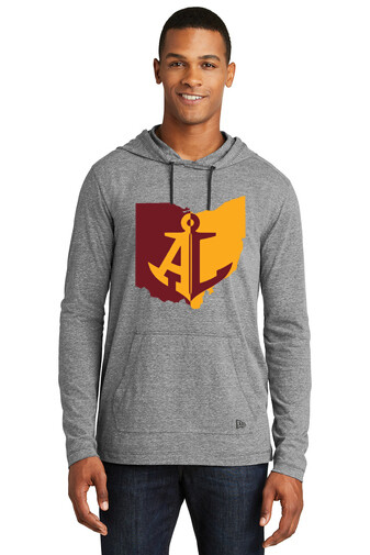 Maroon & Gold State~Unisex Pullover Hoodie Tee {full front logo/blank back}