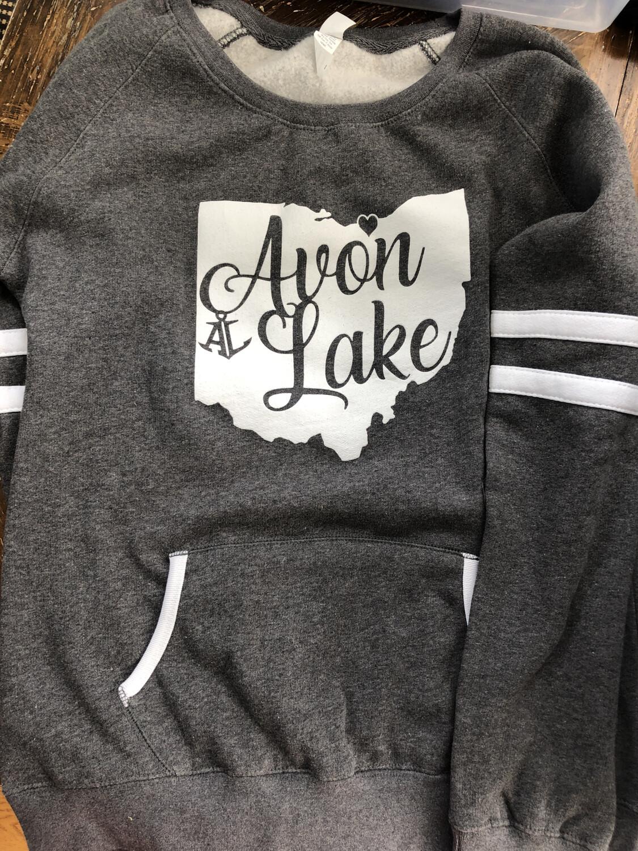 in Stock! Medium - Ladies Varsity Crew Sweatshirt