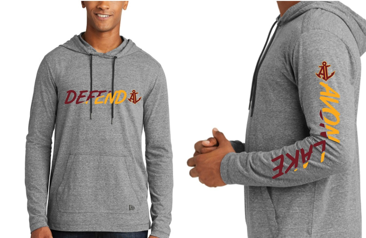 In Stock! Small - Unisex New Era Tri-Blend Performance Pullover Hoodie Tee