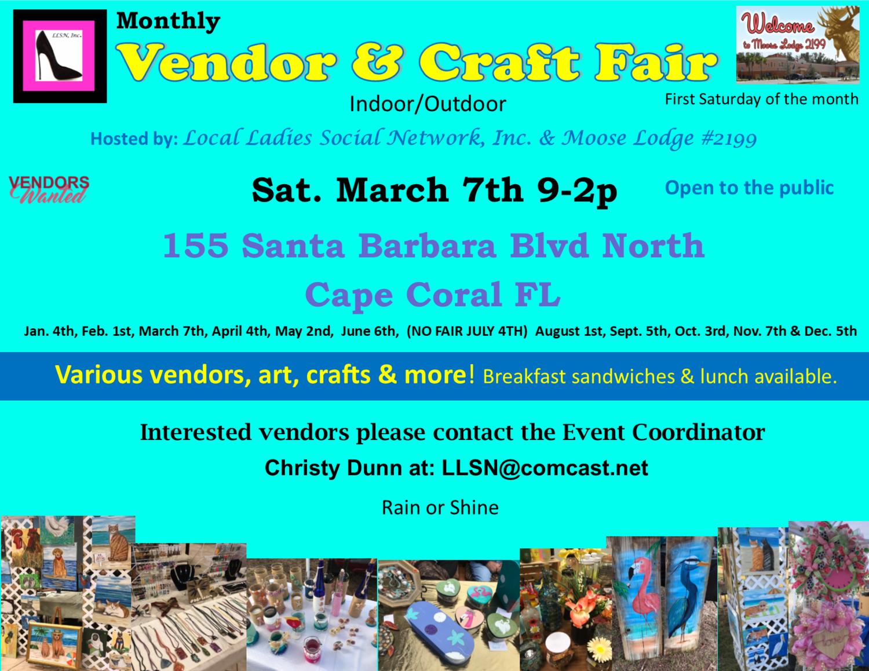 Vendor & Craft Fair- March 7th  OUTSIDE SPOT- (10x10 area)