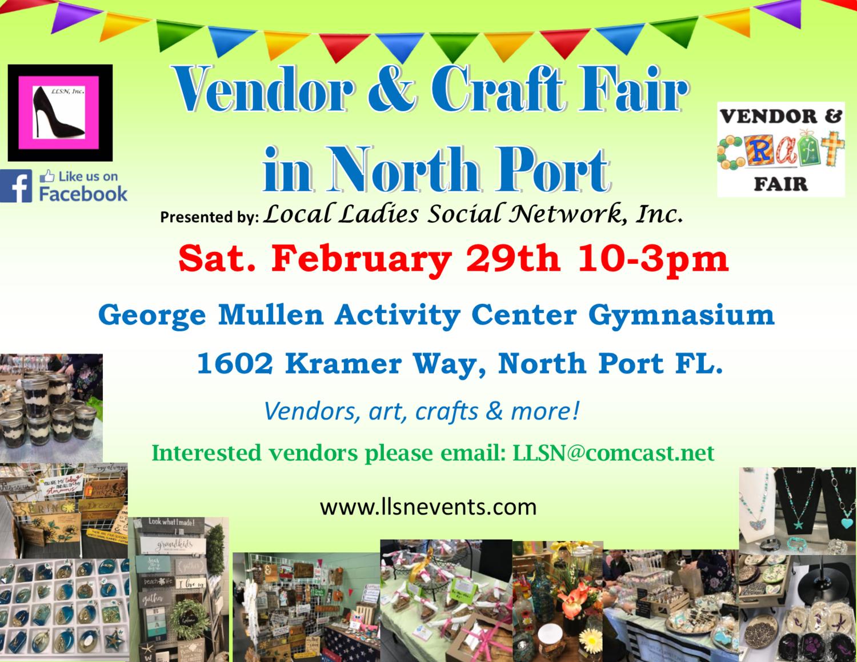 Vendor & Craft Fair - North Port- February 29, 2020 (INSIDE)
