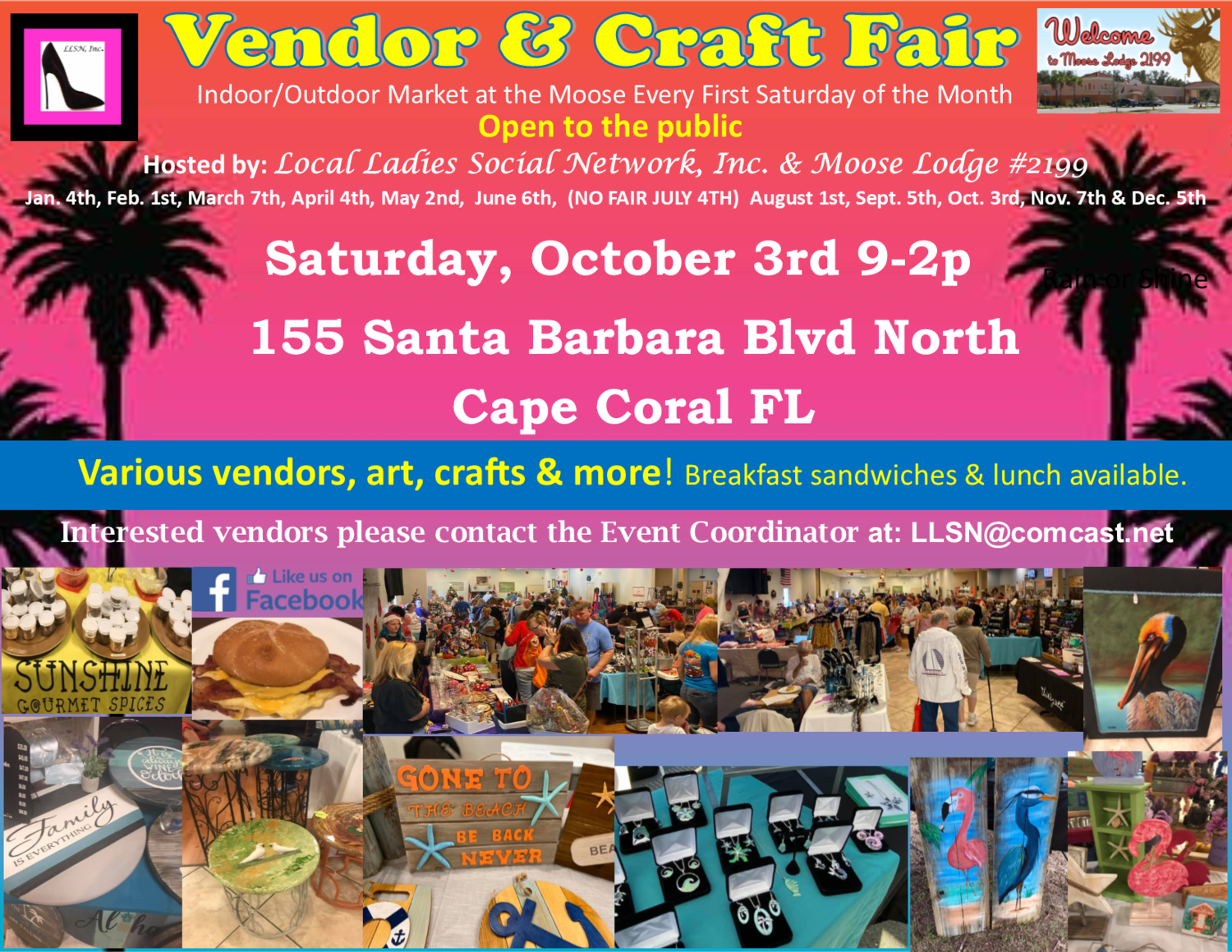Vendor & Craft Fair October 3rd 2020 OUTSIDE SPOT- (10x10 area)