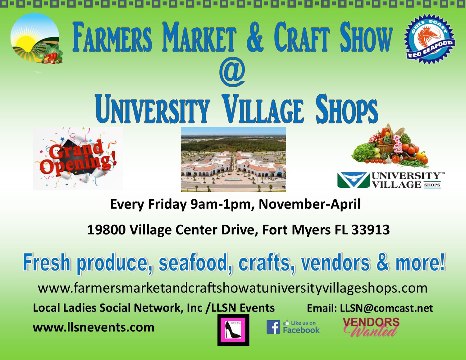 This payment option is for Crafts only for this market! All other vendors must Email LLSN@comcast.net for this event to check availability. Jewelry is full.