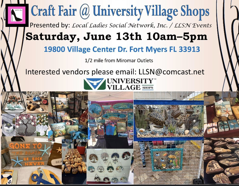 Craft Fair @ University Village Shops- June 13th