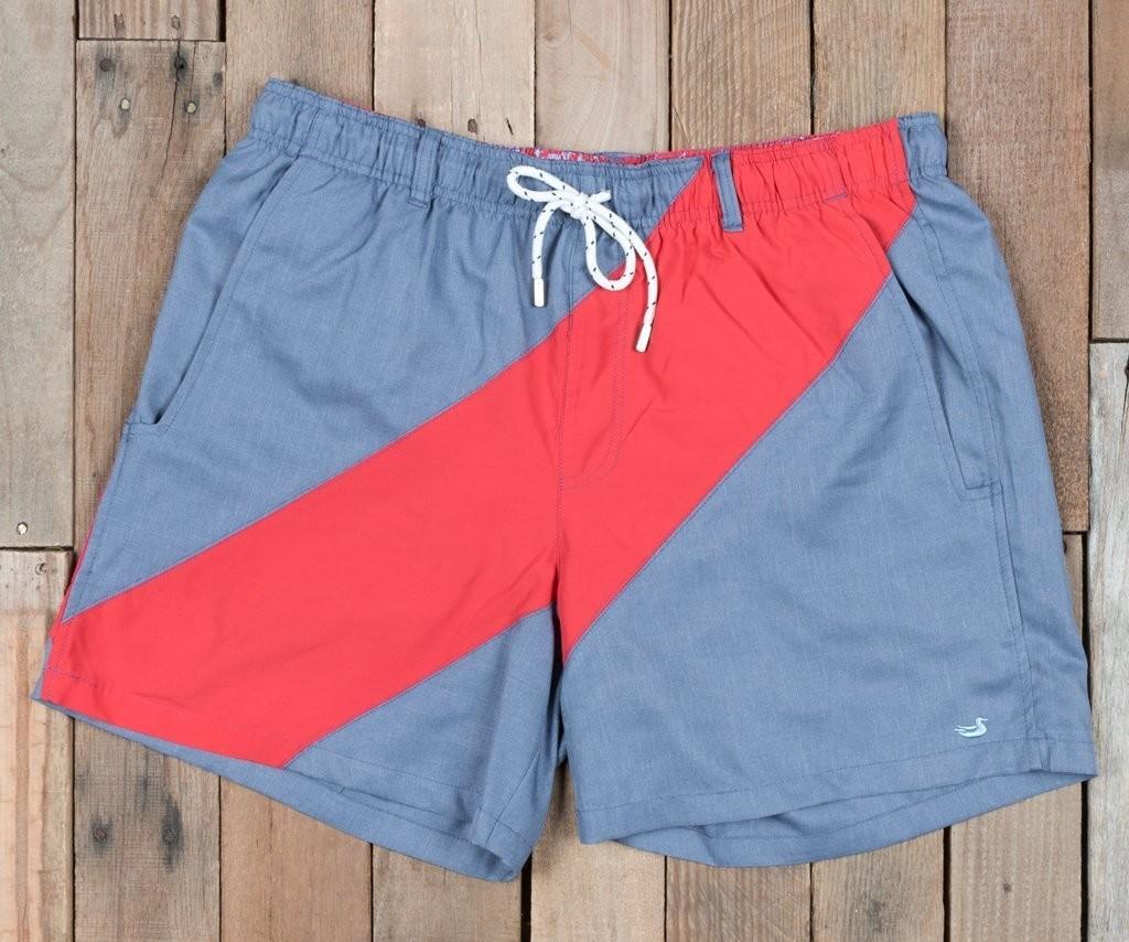 c7904a0bfbac3 Southern Marsh Men's Dockside Swim Trunk- Brigade Stripe