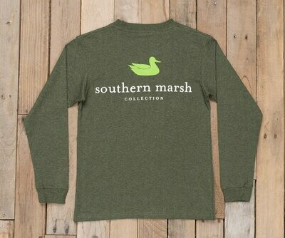 a220902e Southern Marsh Kid's Long Sleeve Authentic Tee