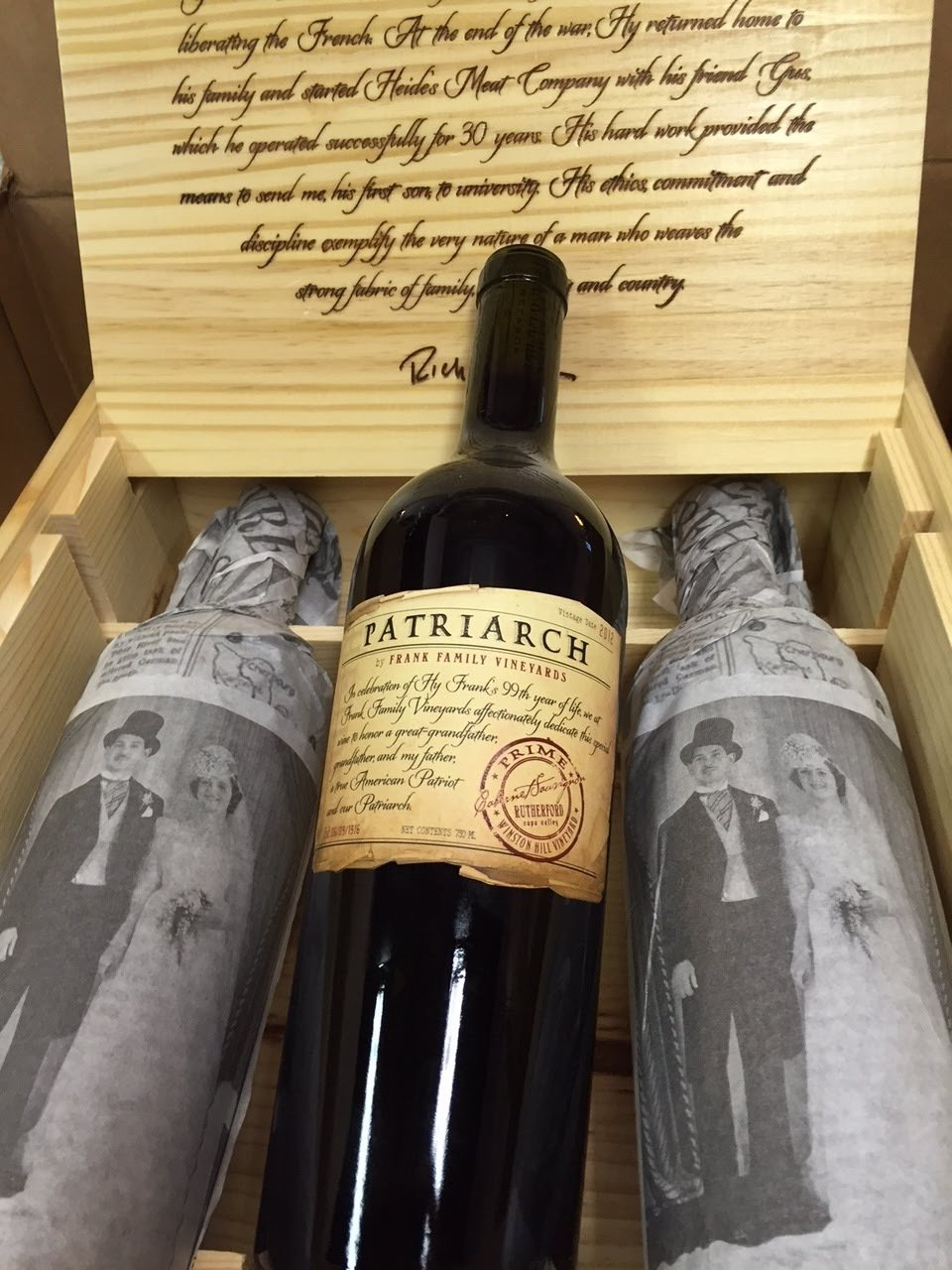 3 Bottle Case of Franks Family Patriarch '12 459486981238