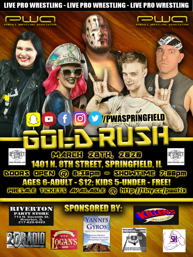 Adult Admission - PWA Gold Rush - March 28th, 2020