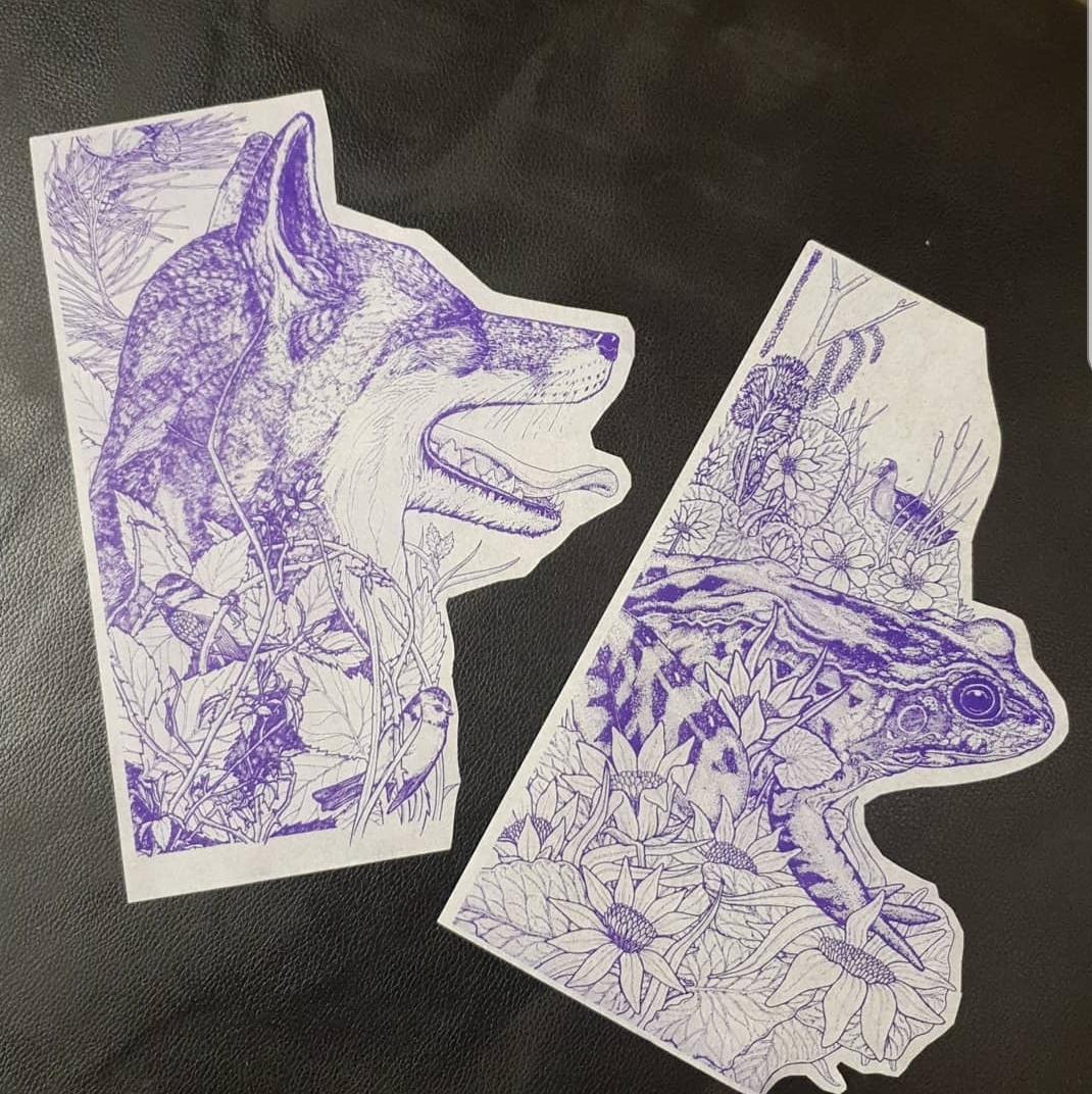 2 x Inkjet Stencils 00015
