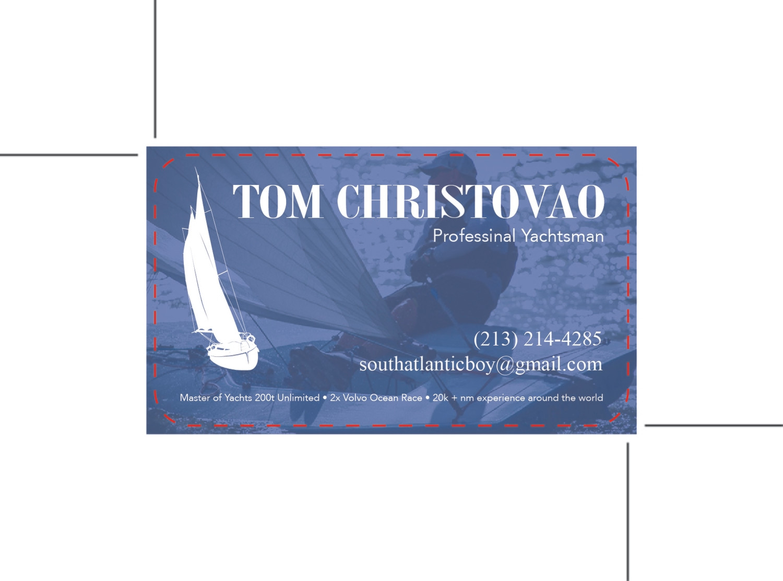 Custom Order - Tom Christovao - Plastic Business Cards