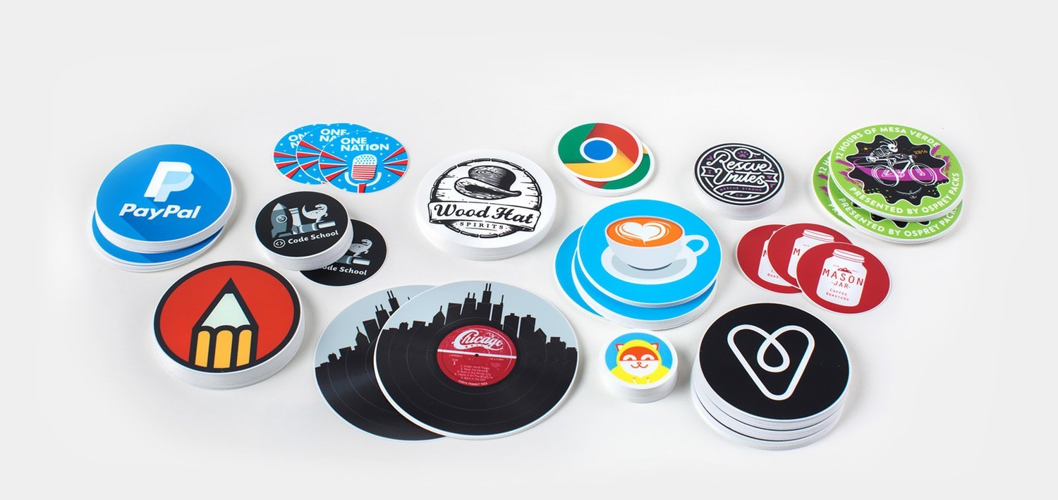 70# Stickers w/ UV - Round Cut