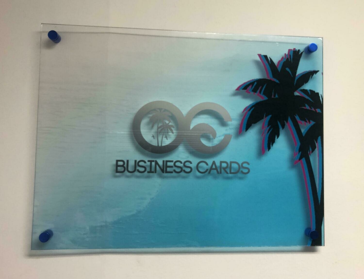 "1/4"" Clear Acrylic Signs with White Ink"