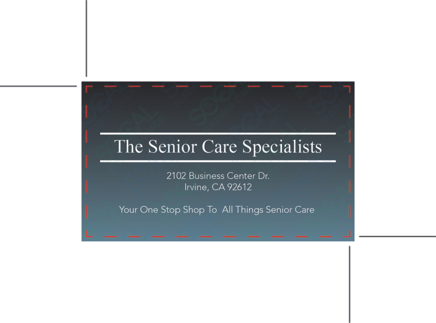 The Senior Care Specialists - Business Cards