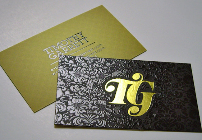 18pt Silk Cards w/ Hot Foil