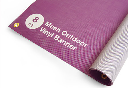 8oz - Mesh Outdoor Banner