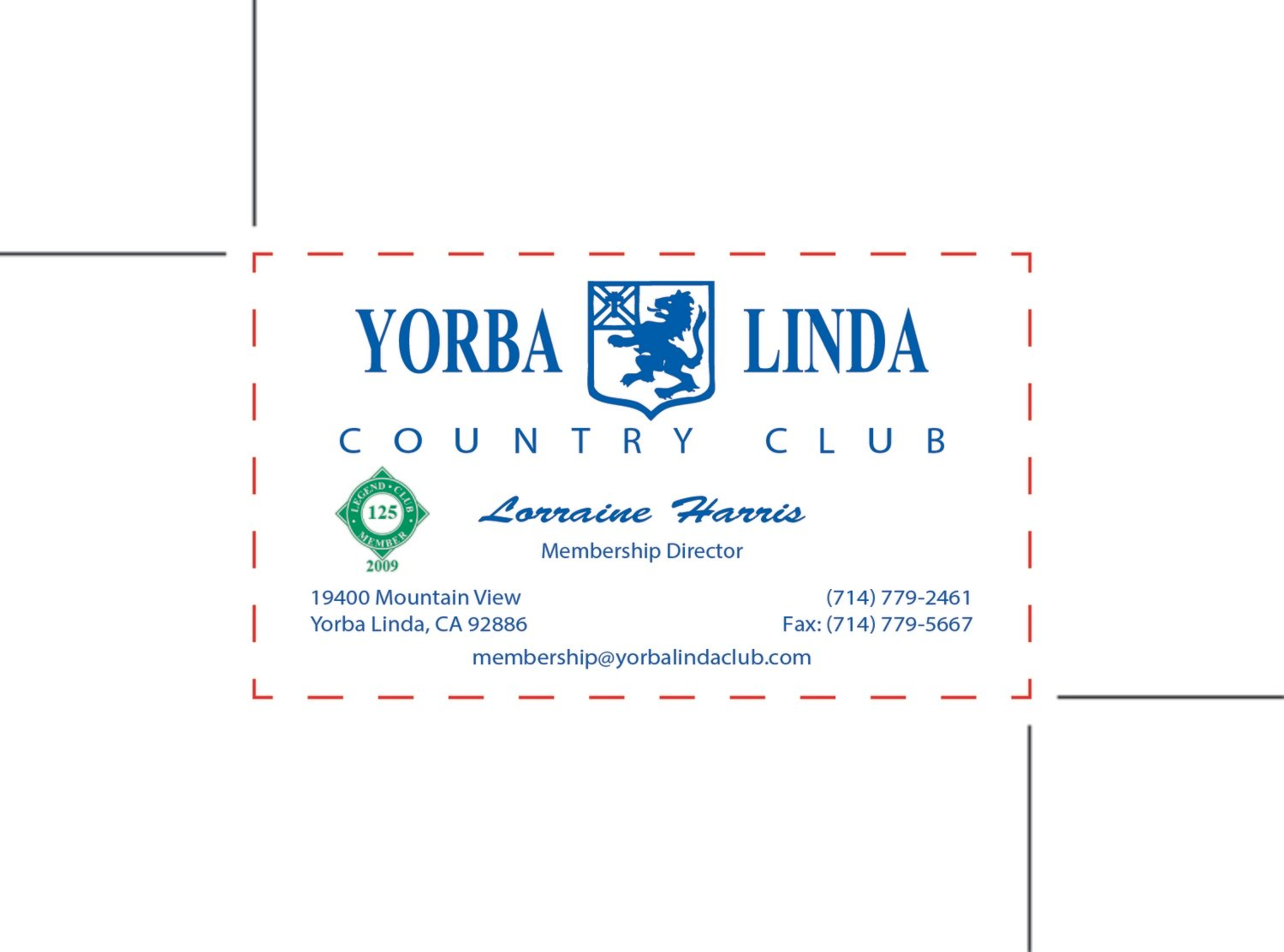 Custom Order - Yorba Linda Country Cub
