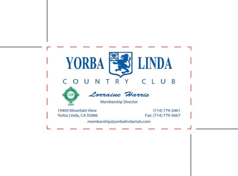 Custom Order - Yorba Linda Country Cub
