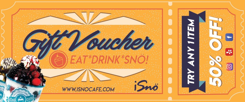 Custom Order - isno Vouchers