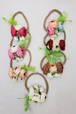 Cabbage Rose Headbands