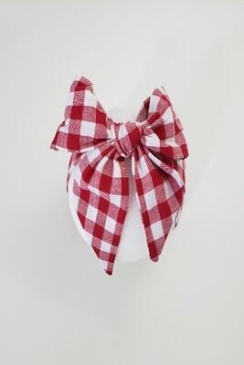 Red Plaid Headwrap