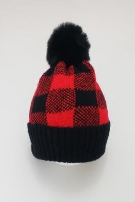 Red Buffalo Plaid Beanie Hat