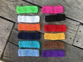 1.5 Inch Crochet Headbands