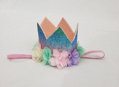 Rainbow Princess Crown Headbands
