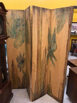 Solid wood handmade and signed room divider BumblePuppy Online