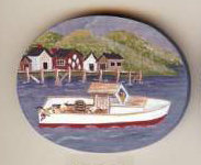 Lobster Boat  Pin