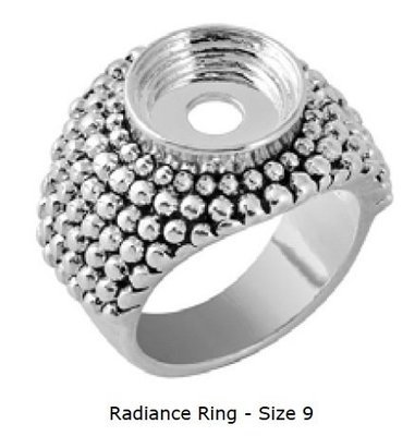 LD8734  RADIANCE RING SZ 9