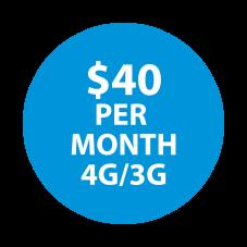 Selectel Wireless  $40  Unltd Minutes  / Unltd Text & 7 GBs of High-Speed Data