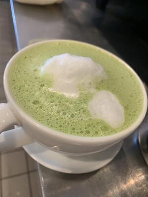 Macha Green Tea Latte (Vegan)