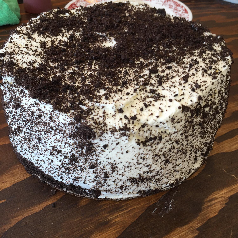 Chocolate Oreo Cake Slice