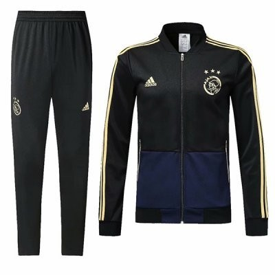Adidas Ajax  Black & Blue Training Tracksuit