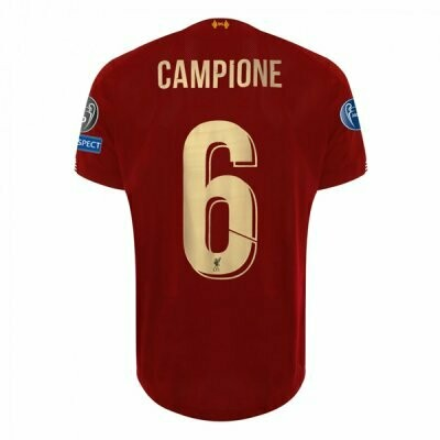 New Balance  Liverpool Champion 6 Time Winner Home Gold Shirt 19/20
