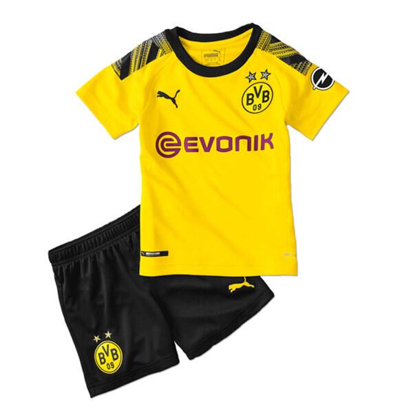 Puma Borussia Dortmund Official Home Soccer Jersey Kids Kit 19/20