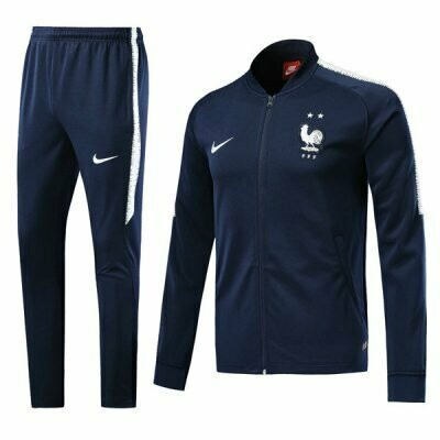 Nike France Navy Blue World Cup Training Kit (Two star)